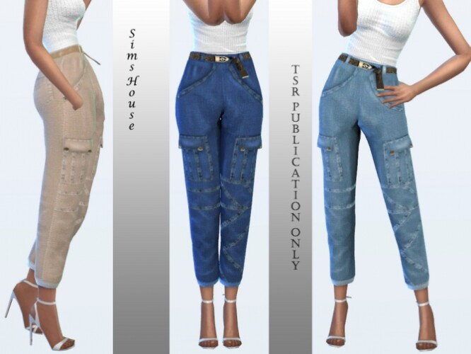 Mom jeans with belt by Sims House