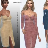 Front slit dress by Sims House