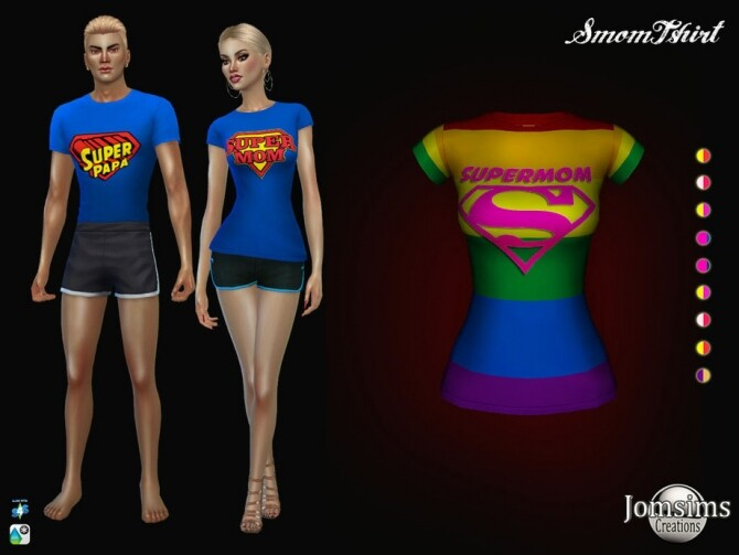Sims 4 Smom T shirt for her by jomsims at TSR
