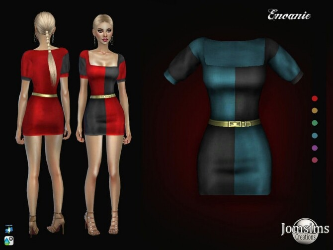 Enoanie dress by jomsims at TSR image 1375 670x503 Sims 4 Updates