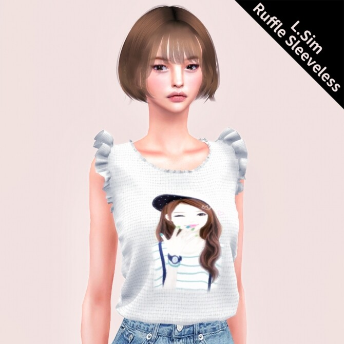 Ruffle Sleeveless Top at L.Sim image 13812 670x670 Sims 4 Updates