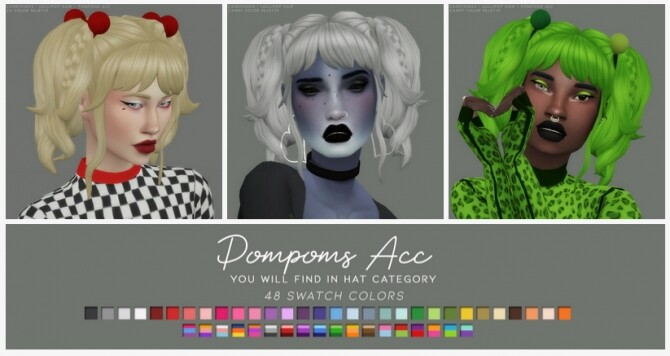 LOLLIPOP HAIR + POMPOMS ACC at Candy Sims 4 image 13914 670x356 Sims 4 Updates