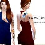 Deep V dress by carvin captoor