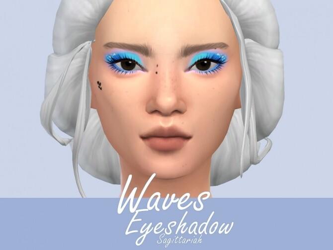 Sims 4 Waves Eyeshadow by Sagittariah at TSR