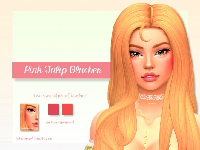Sims 4 Pink Tulip Blusher by LadySimmer94 at TSR