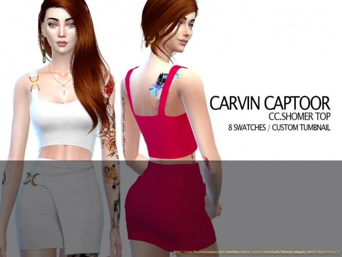 Shomer top by carvin captoor at TSR image 1419 670x503 Sims 4 Updates