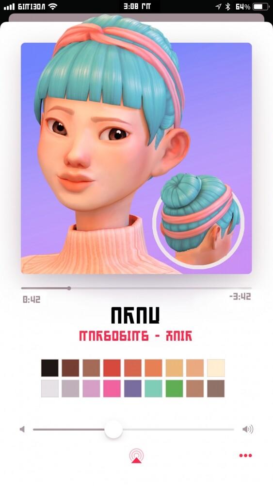 Sims 4 Araw hair at Marso Sims