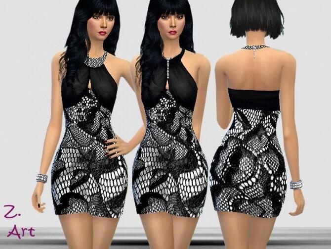 PartyZ 08 Dress by Zuckerschnute20 at TSR image 1434 670x503 Sims 4 Updates