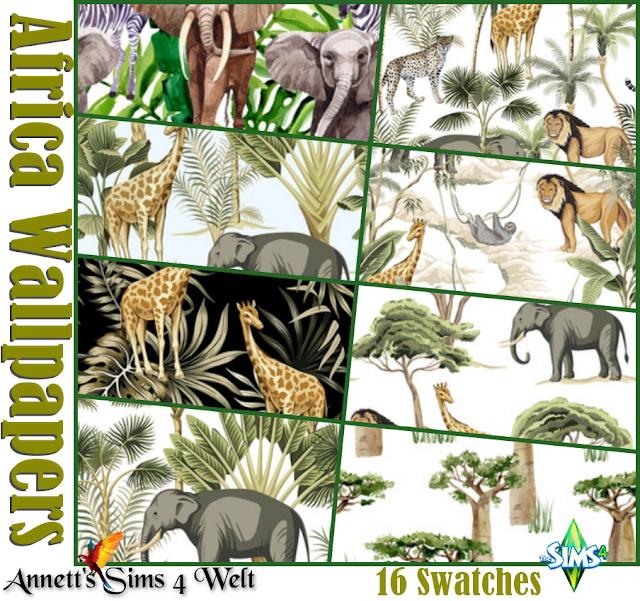 Africa Wallpaper at Annett's Sims 4 Welt image 14413 Sims 4 Updates