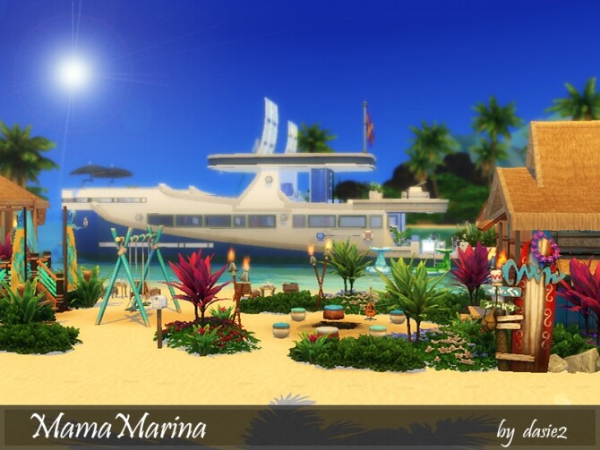 Sims 4 Mama Marina lot by dasie2 at TSR