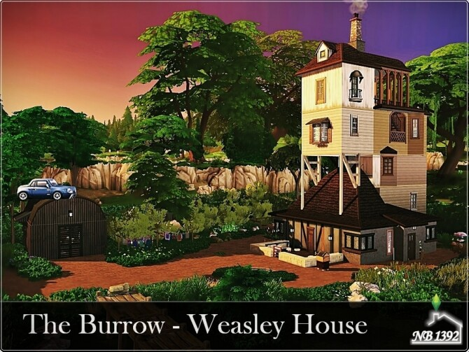 Sims 4 The Burrow Weasley House by nobody1392 at TSR