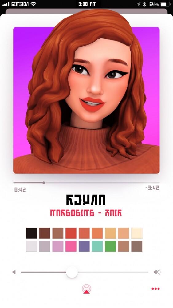 Sims 4 Reyna hair at Marso Sims