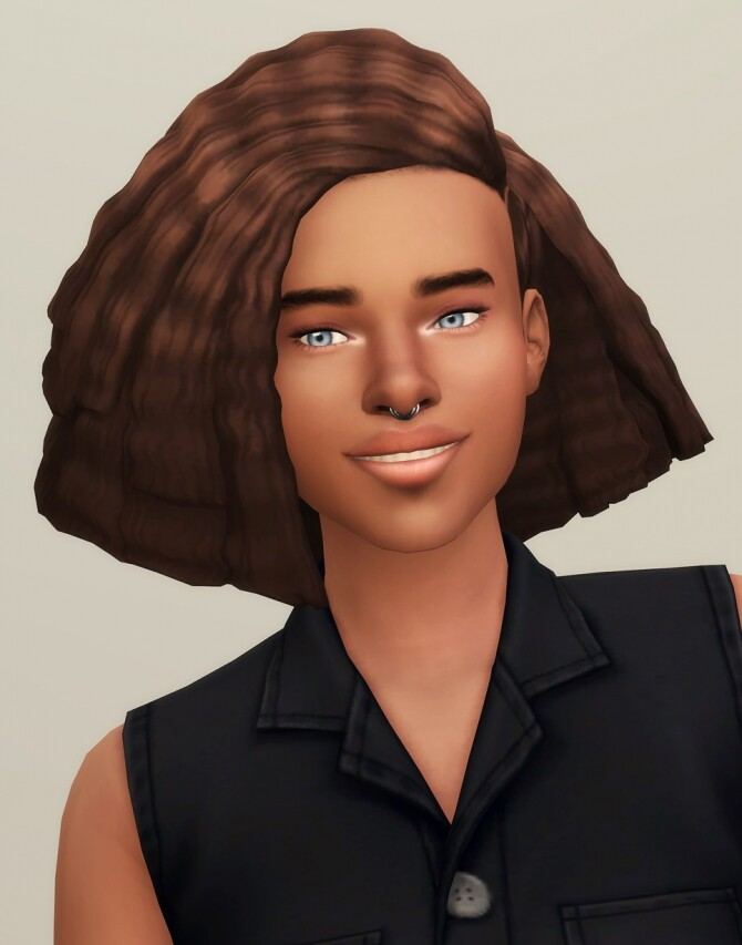 Sims 4 Crimped Hair Edits M/F 4 ver. + ombre at Rusty Nail