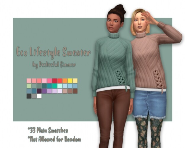 Eco Lifestyle sweater recolors