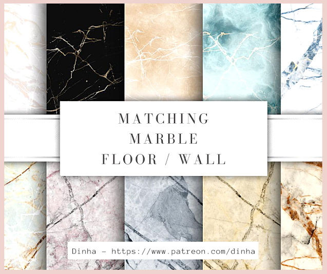 Matching Marble Floor & Wall 10 Textures at Dinha Gamer image 1469 Sims 4 Updates