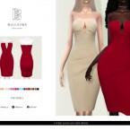 V Wire Bandage Midi Dress by Bill Sims
