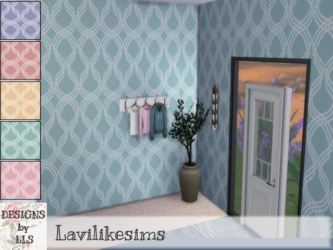 Sims 4 Ribbons wallpaper by lavilikesims at TSR