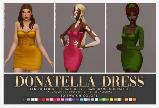 Sims 4 DONATELLA DRESS at Candy Sims 4