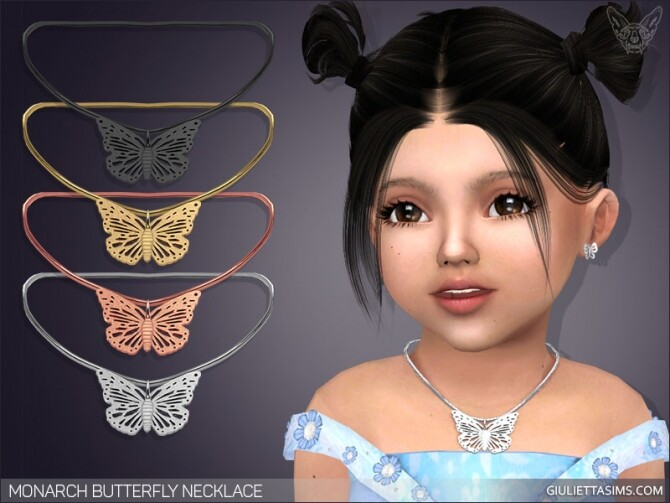 Monarch Butterfly Necklace For Toddlers at Giulietta image 1514 670x503 Sims 4 Updates