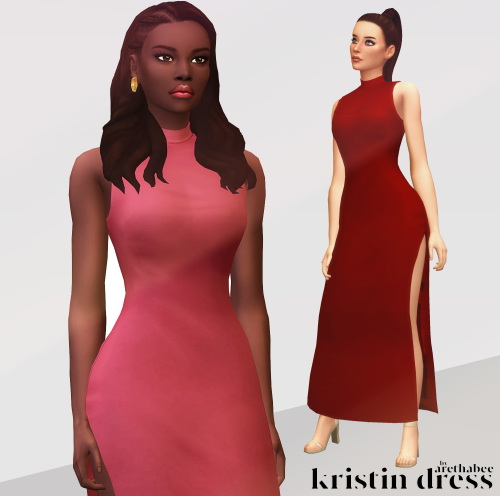 Sims 4 Kristin dress at Arethabee