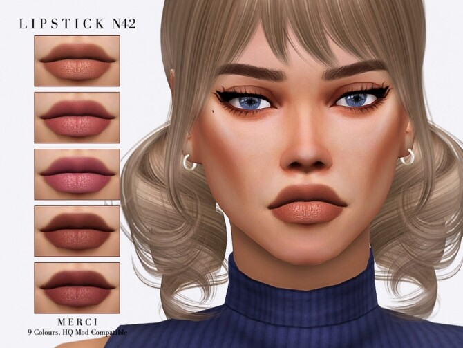 Sims 4 Lipstick N42 by Merci at TSR