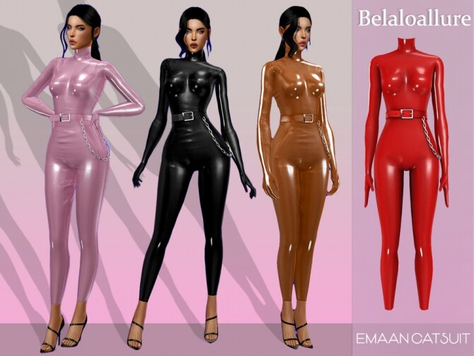 Sims 4 Emaan catsuit by belal1997 at TSR