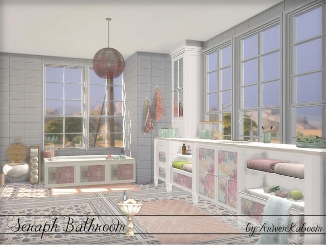 Seraph Bathroom by ArwenKaboom at TSR image 1554 670x503 Sims 4 Updates