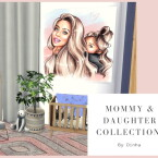 Mommy Daughter Collection Rug Paintings