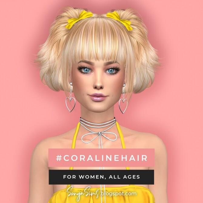 Sims 4 Coraline & Sky Hair + July Gifts at Sonya Sims