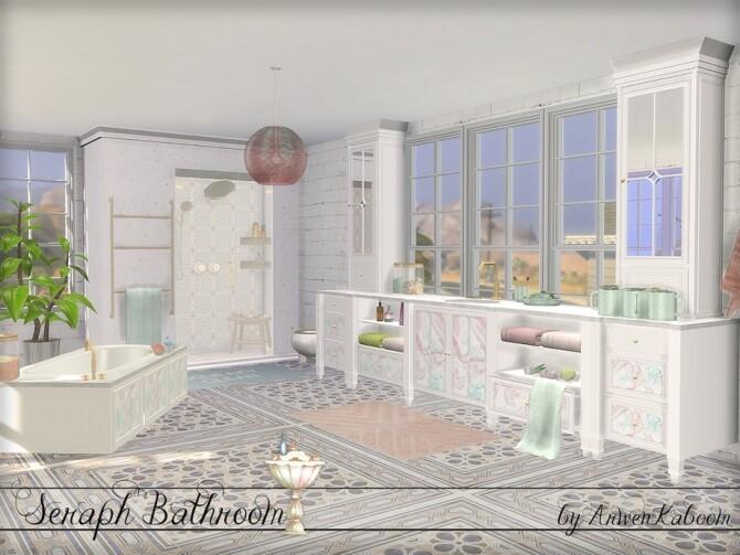 Seraph Bathroom by ArwenKaboom at TSR image 1574 670x503 Sims 4 Updates