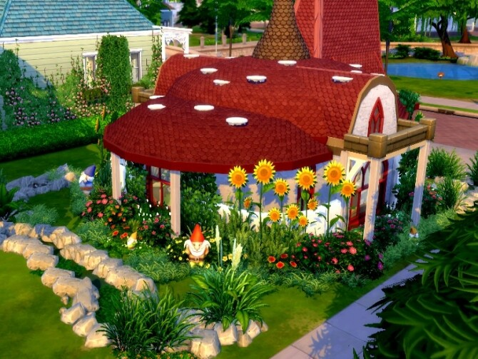 Sims 4 Mashroom house by GenkaiHaretsu at TSR