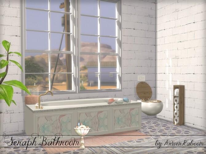 Seraph Bathroom by ArwenKaboom at TSR image 1584 670x503 Sims 4 Updates