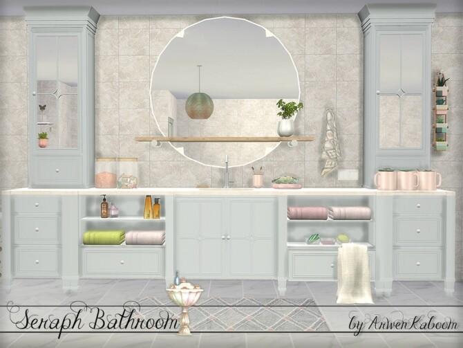 Seraph Bathroom by ArwenKaboom at TSR image 1594 670x503 Sims 4 Updates