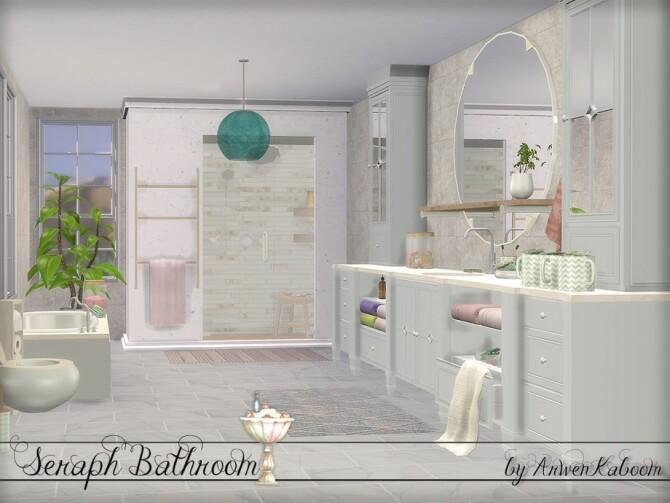 Seraph Bathroom by ArwenKaboom at TSR image 1604 670x503 Sims 4 Updates