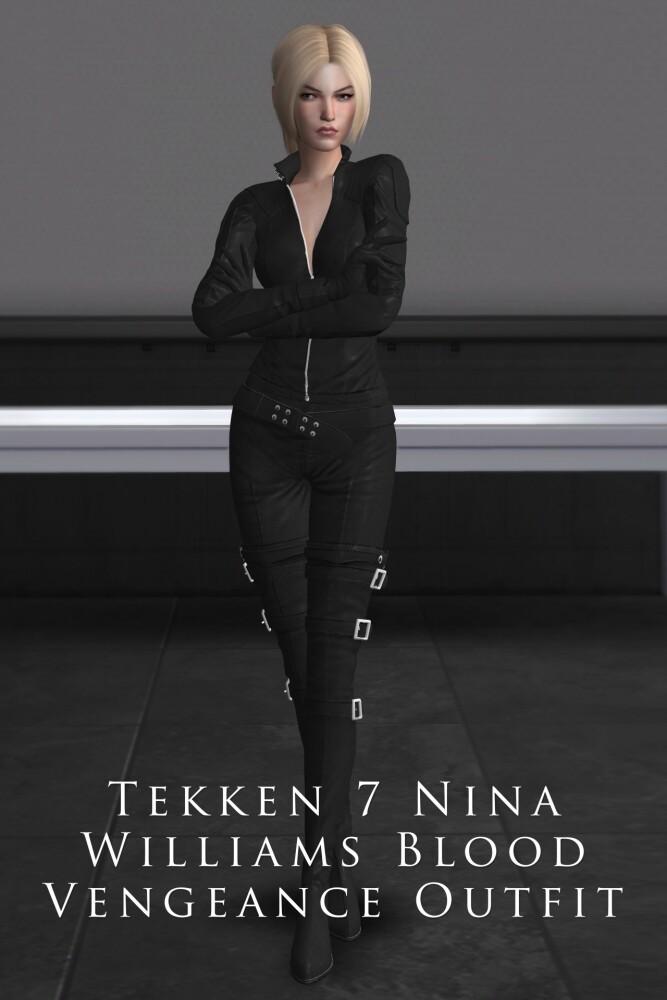 Sims 4 Tekken 7 Nina Williams Blood Vengeance Outfit at Astya96