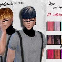Simjo Nuri male hair retexture by HoneysSims4