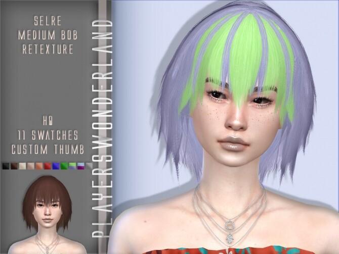 Sims 4 Selre Medium Bob Hair Retexture by PlayersWonderland at TSR
