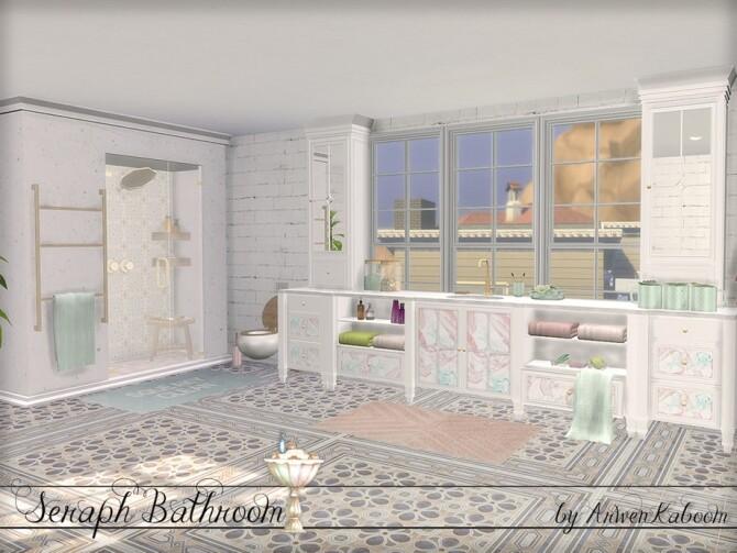 Sims 4 Seraph Bathroom by ArwenKaboom at TSR
