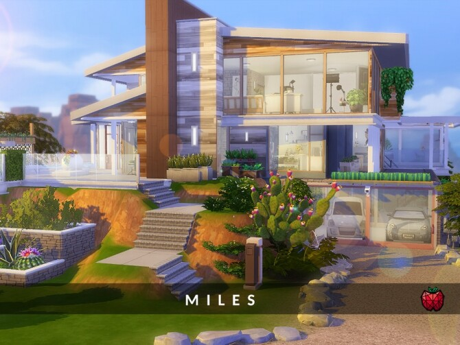 Miles tall mansion with retro vibes by melapples at TSR image 1629 670x503 Sims 4 Updates