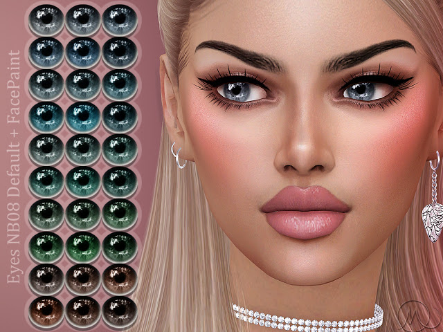 Eyes NB08 Default + FacePaint at MSQ Sims image 163 Sims 4 Updates