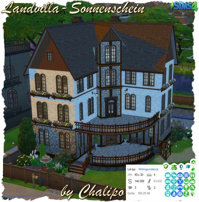 Sims 4 Country villa sunshine by Chalipo at All 4 Sims