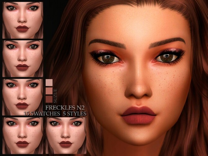 Sims 4 Freckles N2 by Suzue at TSR