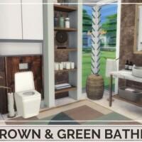 BROWN GREEN BATHROOM