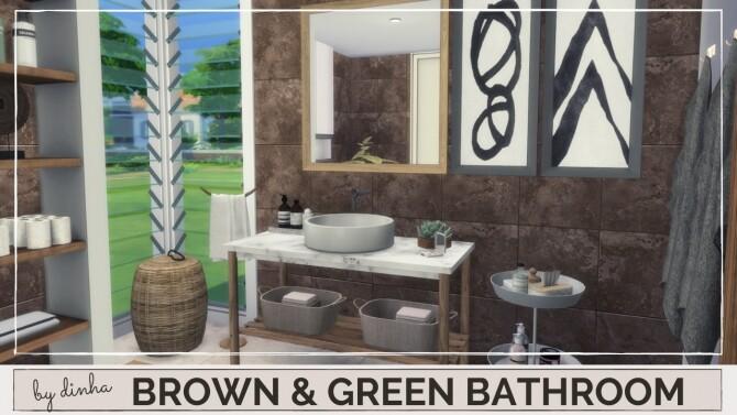 BROWN & GREEN BATHROOM at Dinha Gamer image 165 670x377 Sims 4 Updates