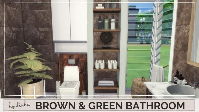 BROWN & GREEN BATHROOM at Dinha Gamer image 166 670x377 Sims 4 Updates