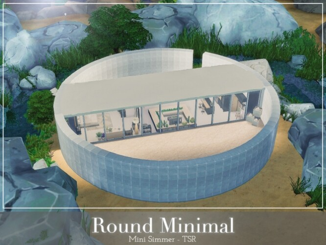 Round Minimal Home by Mini Simmer