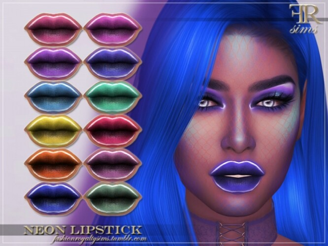 FRS Neon Lipstick by FashionRoyaltySims