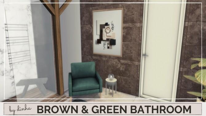 BROWN & GREEN BATHROOM at Dinha Gamer image 167 670x377 Sims 4 Updates
