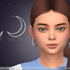 Moon Hoop Earrings For Kids