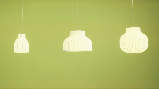 Strand Pendant Lamp Collection at Meinkatz Creations image 1678 670x377 Sims 4 Updates